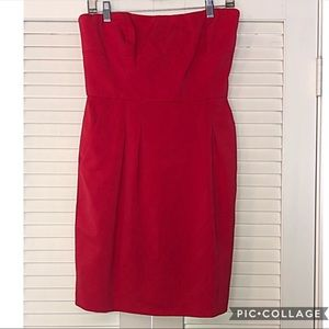 BCBG Maxazaria Little Red Strapless Dress NWOT 12